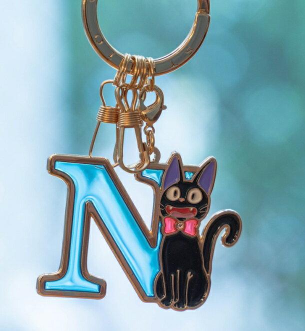 吉吉 N 藍 魔女宅急便 黑貓jiji 宮崎駿 造型鐵片 掛勾 彩色玻璃 鑰匙圈 掛飾 擺飾 禮物 真愛日本