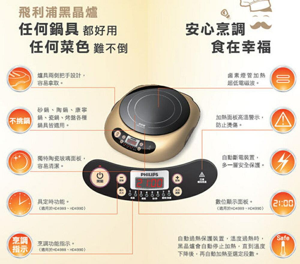 《贈科技纖維布》Philips HD4990 / HD-4990 飛利浦 萬用不挑鍋 黑晶爐