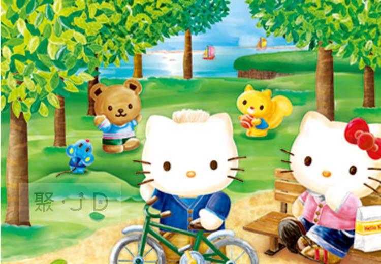 幼吾幼兒童百貨商城 【P2拼圖】三麗鷗 Hello Kitty -春之森林 (300pcs) HP0300S-179