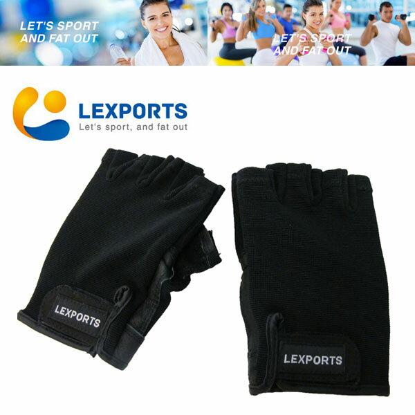 LEXPORTS 勵動風潮:LEXPORTS勵動風潮專業級健身訓練運動手套重量訓練手套自行車騎乘手套半指露指舉重手套