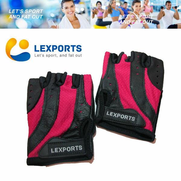 LEXPORTS 勵動風潮  級健身訓練 手套 ^(女用重磅系列^)  重量訓練手套  自