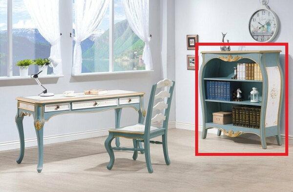 【石川家居】YE-A479-05維多利亞歐式4尺書櫃(不含其他商品)台北到高雄搭配車趟免運