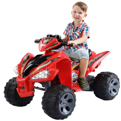 Costway Xmas Gift Kids Ride On ATV Quad 4 Wheeler Electric Toy Car 12V Battery Power Led Lights 69a2dcbf494d013eccde536306b5ae35
