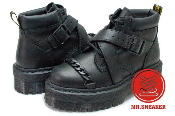 ☆Mr.Sneaker☆Dr.Martens馬汀BEAUMANN霧面鍊條厚底短靴黑色女段台灣公司正品