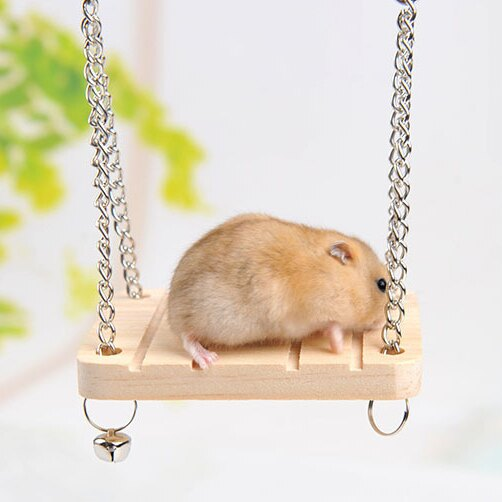 ++小鼠也要玩遊戲++木造鈴鐺鞦韆玩具.倉鼠專用-翹翹鬍子