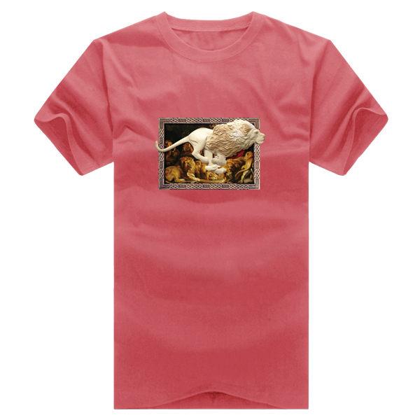 ◆快速出貨◆T恤.情侶裝.班服.MIT台灣製.獨家配對情侶裝.客製化.純棉短T.相框上奔跑獅子【YC364】可單買.艾咪E舖 8