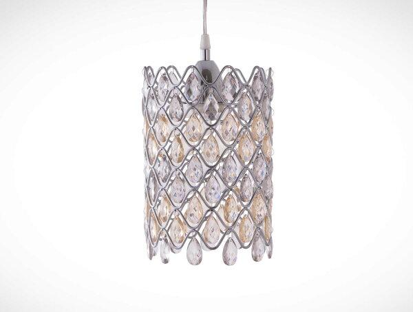 鍍鉻波浪紋壓克力珠吊燈-BNL00051
