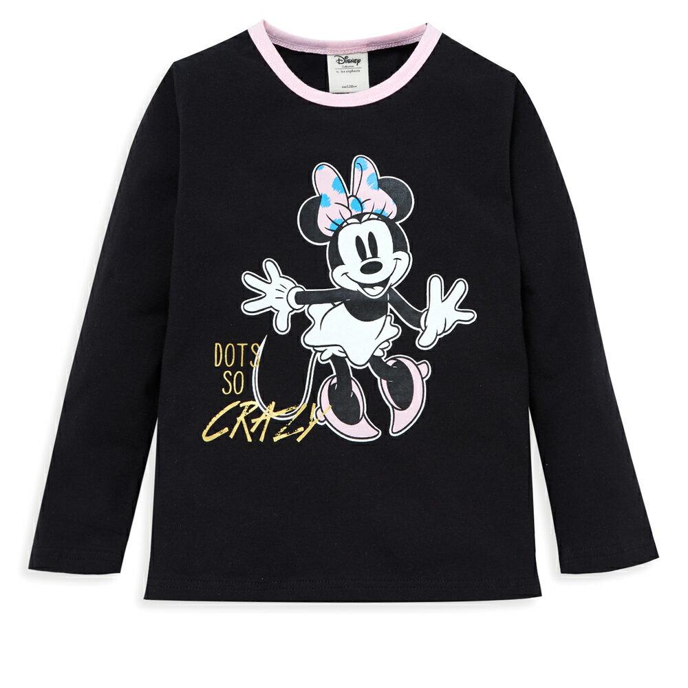 Disney 米妮系列歡樂塗鴨上衣-黑色 - 限時優惠好康折扣