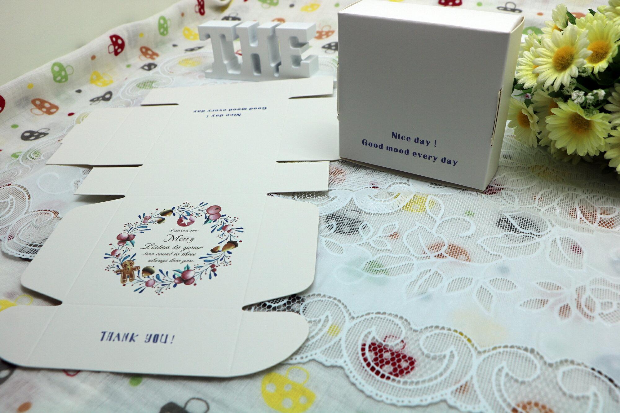花草時光 精美DIY 烘焙包裝盒 手工皂盒 香氛精油盒 4入(8.5*8.5*3.5)