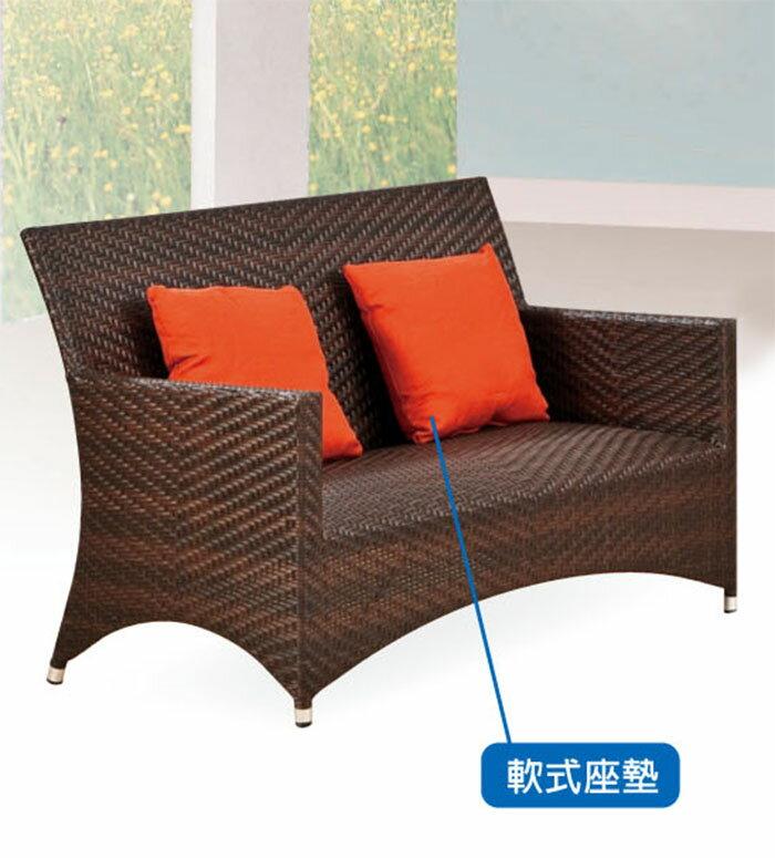 【尚品傢俱】JJ-0503 A9色雙人藤椅(含枕*2)