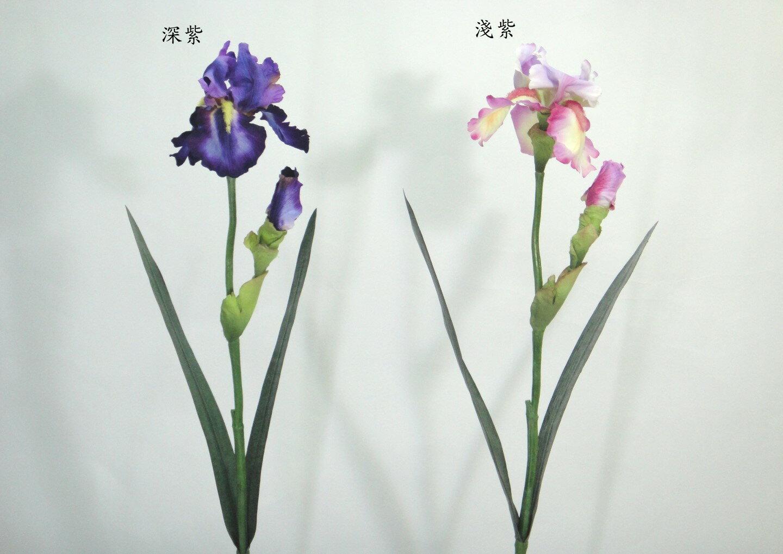 28吋 1花1苞鳶尾花  人造花 空間 景觀 佈置 造景