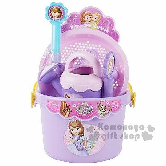 〔小禮堂嬰幼館〕迪士尼 蘇菲亞小公主 挖沙玩具組《紫.桶裝.動物.朋友》