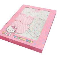 彌月禮盒推薦【真愛日本】18033100003 KT彌月禮盒組-幸運草條紋手套 kitty彌月禮盒 手套腳套 女寶寶嬰幼兒用品