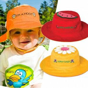 小烏龜精品童裝店:UPF50+高防曬指數‧保護細緻肌膚Flapjackkids雙面遮陽帽-小雛菊小西瓜