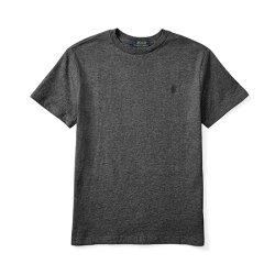 美國百分百【全新真美國百分百【全新真品】Ralph Lauren T-shirt 短袖 T恤 RL polo 鐵灰 XS S號 B018