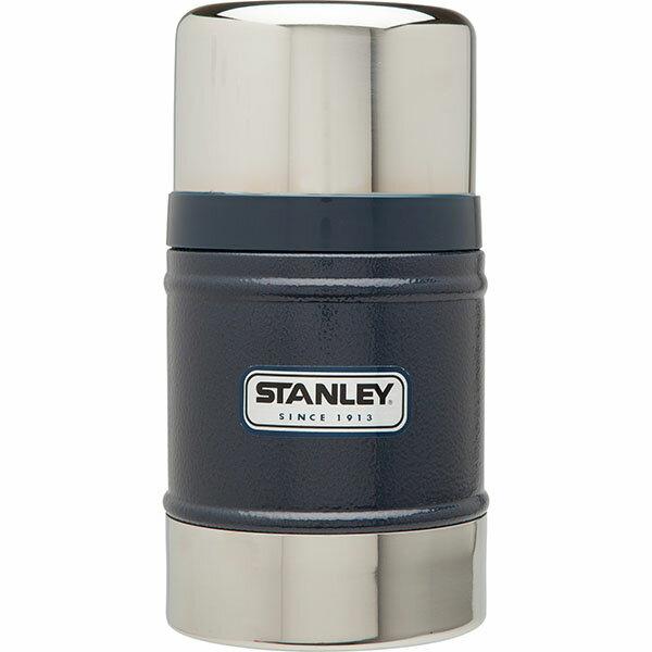 ├登山樂┤ 美國 Stanley 經典真空保溫食物罐 0.5L - 錘紋藍 #10-00811-BL