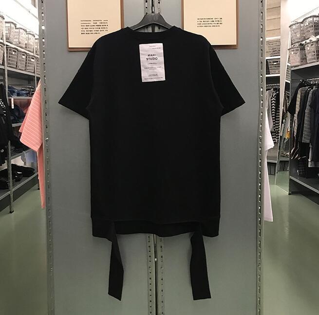 FINDSENSE MD 韓國 潮 男  分叉不規則 後背貼布 短袖T恤 特色短T 學生T