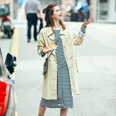 休閒夾克風衣外套~ 俏皮寬鬆大口袋女裝2色73hu54~ ~~米蘭 ~ ~  好康折扣