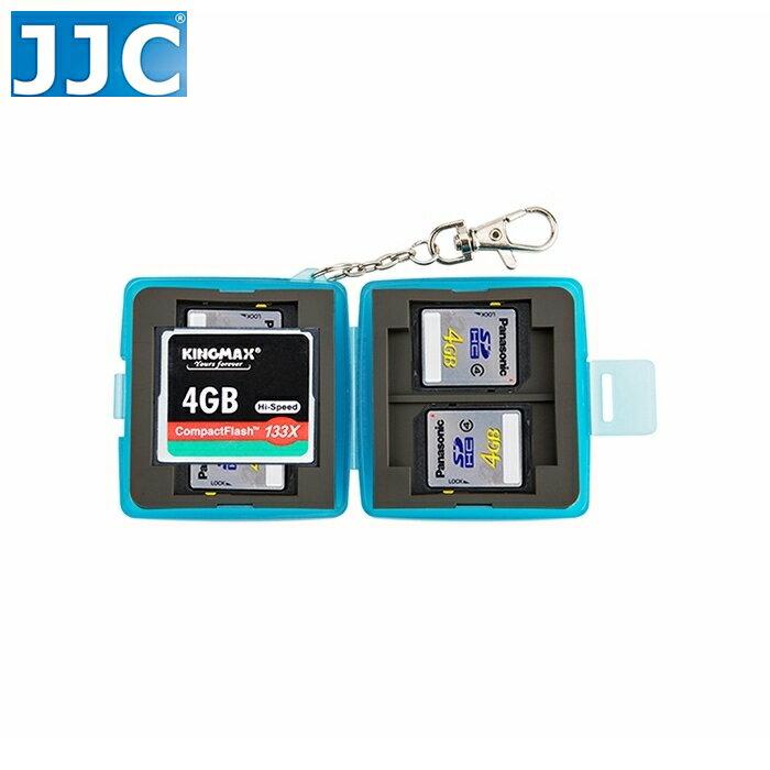 又敗家~JJC共6張記憶卡收納盒MC~6B 2張CF.4張SD CF卡盒SD卡盒放置盒CF