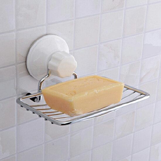♚MY COLOR♚不鏽鋼金屬吸盤皂架 肥皂 衛浴 洗手 水槽 清潔 輕洗 排水 軟化 濾水【N84】