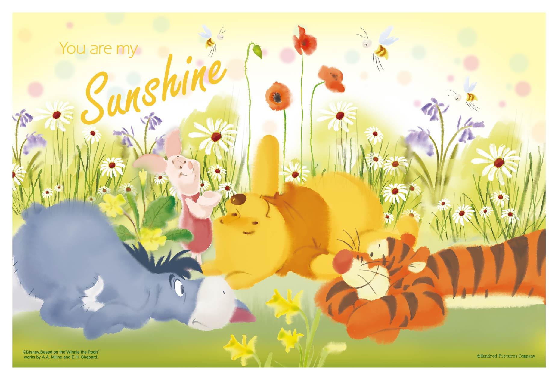 Winnie The Pooh卡片  雙面拼圖36片