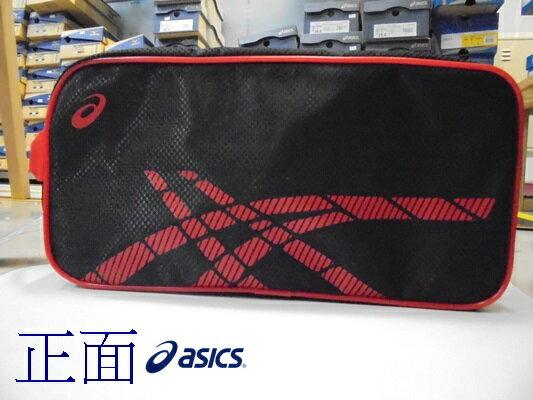 [陽光樂活] ASICS 運動鞋袋 黑底紅Logo Y31522-9023
