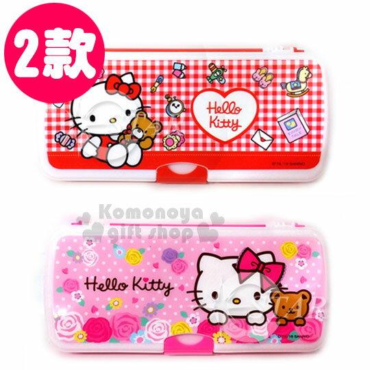 〔小禮堂韓國館〕Hello Kitty 雙開式筆盒《2款.三層》白板備忘錄