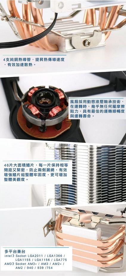 CP值冠軍 原廠公司貨  i-CoolTW龍捲風CPU散熱器 CPU 風扇 電腦組裝 機殼 原廠風扇 7