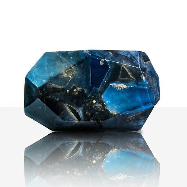 賽先生科學工廠|星際隕石皂-經典木質(深藍色)