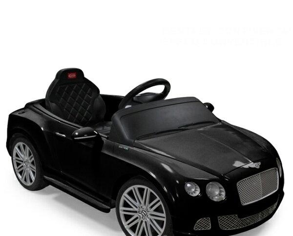 【淘氣寶寶】賓利BENTLEY兒童電動車-雙驅黑色(商檢局檢驗合格)【贈麵包超人飲料輔助器】