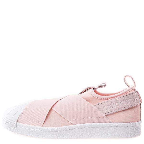 【蟹老闆】【現貨+預購】Adidas 愛迪達 Adidas Superstar Slip On W 交叉綁帶 貝殼頭 粉紅 女鞋 0