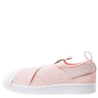 【蟹老闆】【現貨+預購】Adidas 愛迪達 Adidas Superstar Slip On W 交叉綁帶 貝殼頭 粉紅 女鞋