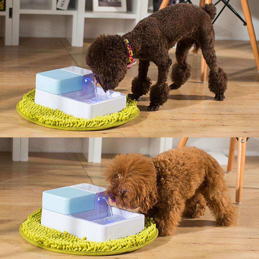Automatic Electric 1.8L Pet Water Fountain Dog Cat Drinking Bowl With LED Light US Plug 4