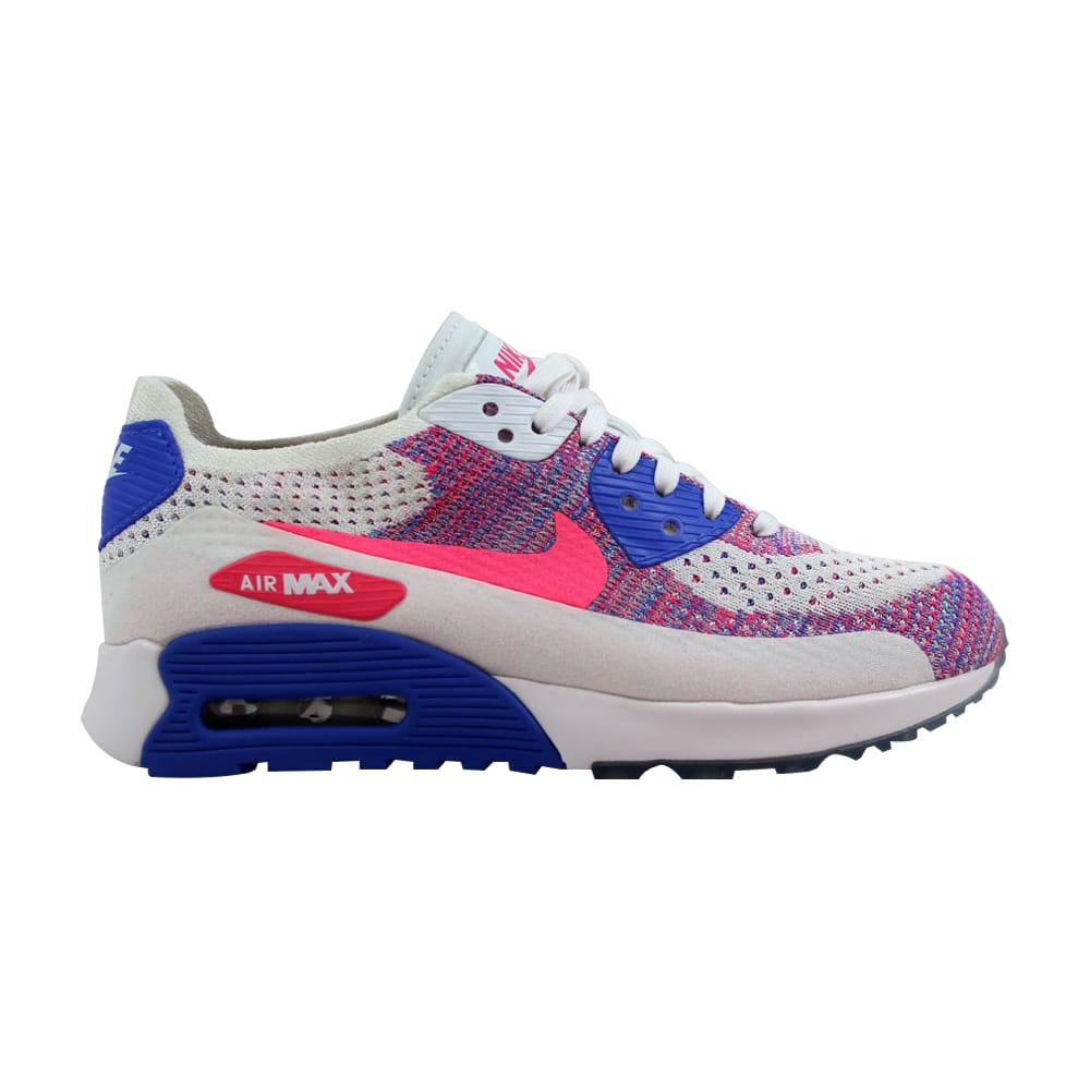 size 40 ad9b2 46d7b Nike Air Max 90 Ultra 2.0 Flyknit White Racer Blue-Medium Blue 881109-