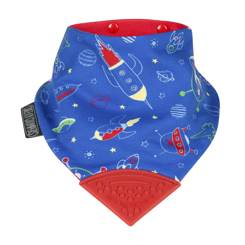 【英國 Cheeky Chompers】 全世界第一個咬咬兜/ 圍兜 / 口水巾-太空火箭