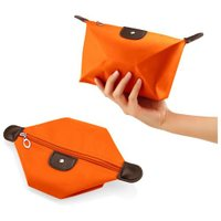 Travel Cosmetic Bag Storage Pouch Purse Makeup Case Multifunction Toiletry Zipper Wash Organizer Handbag  - Orange