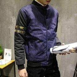 ★迷彩外套 棒球外套-時尚拼接牛仔休閒男夾克72d47【獨家進口】【米蘭精品】