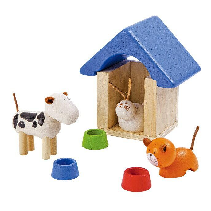 《  PLAN TOYS 》木製 典藏娃娃屋 可愛寵物 東喬精品百貨