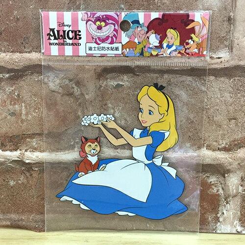【真愛日本】17072400003 防水貼紙L-愛麗絲花圈 迪士尼 愛麗絲夢遊仙境 Alice 行李箱裝飾貼紙