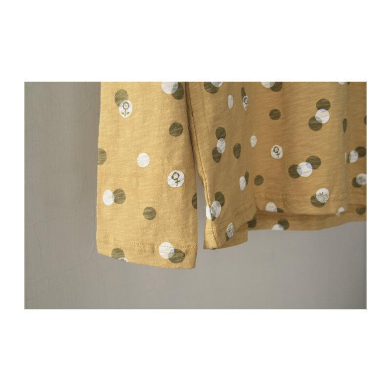 【日本品牌 | Emago】點點花朵圖案 純棉長袖上衣 (全六色) 2