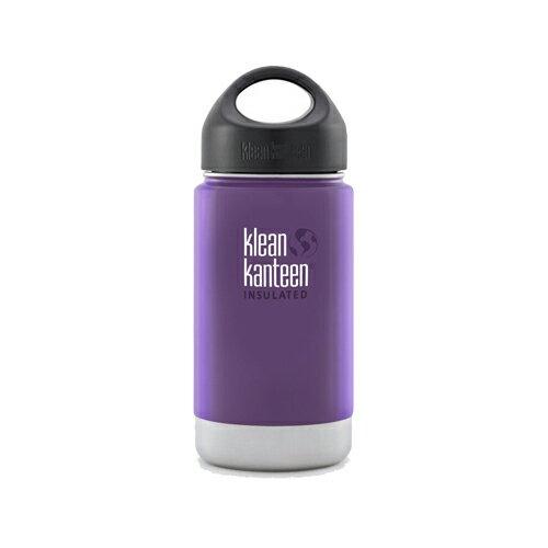 【Klean Kanteen】12oz不鏽鋼寬口環形蓋保溫瓶-紫葡萄