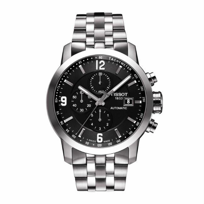 TISSOT天梭錶T0554271105700 三眼經典計時機械錶/黑面43mm