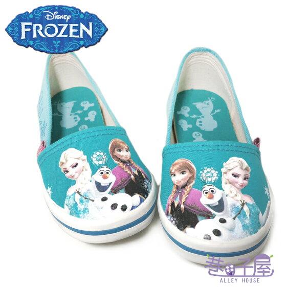 【巷子屋】DISNEY迪士尼冰雪奇緣女童套入式休閒帆布鞋[64806]水藍MIT台灣製造超值價$198