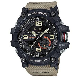 CASIO G-SHOCK GG-1000-1A5防塵泥雙感應器強悍腕錶/卡其色55.3mm