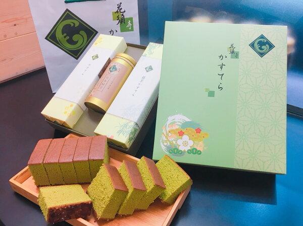花須寺長崎蛋糕3入禮盒-原味+日本綠茶+抹茶
