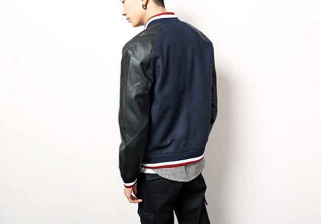 【JP.美日韓】韓國 高檔 皮革 棒球外套 皮衣 毛 外套 棒球 潮流外套 非OVK REMIX READY SQUAD