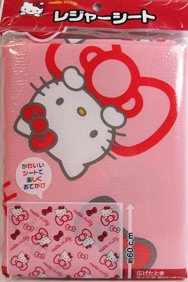 【真愛日本】15061600043 野餐墊60*80cm-KT紅結滿版粉 三麗鷗 Hello Kitty 凱蒂貓 墊子 正品 限量 預購