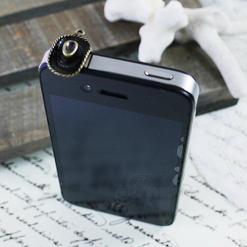 寶貝窩 Aegean【KL01021】韓國70年代胡士托嬉皮西部小牛仔耳機塞手機吊飾 iphone 三星 HTC 3.5mm耳機防塵塞
