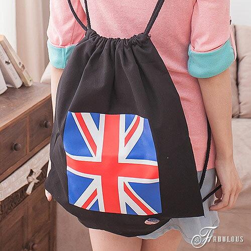 寶貝窩 Graceful【MA6034】二代街頭潮流感繽紛玩色大英國旗抽繩束口後背包
