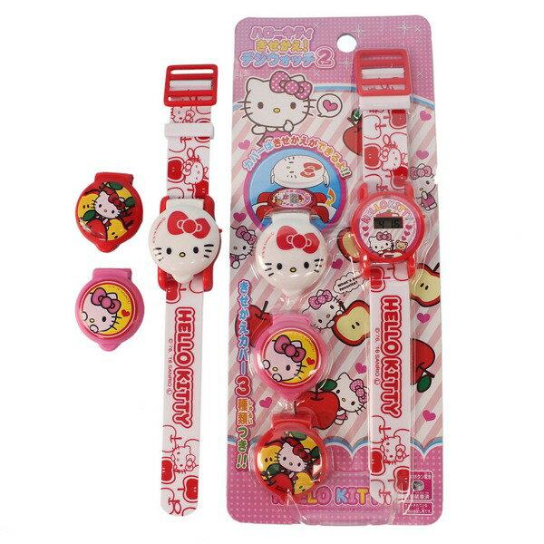 Hello Kitty 可換錶蓋凱蒂貓電子錶 A496KT變裝手錶/一個入(促220)(內附電池) KT電子錶 凱蒂貓手錶-授權商品-佳KT013252